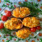 Лакедра запеченная с морковью и плавленым сыром