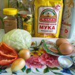 Дрожжевой пирог с начинкой из капусты - состав рецепта