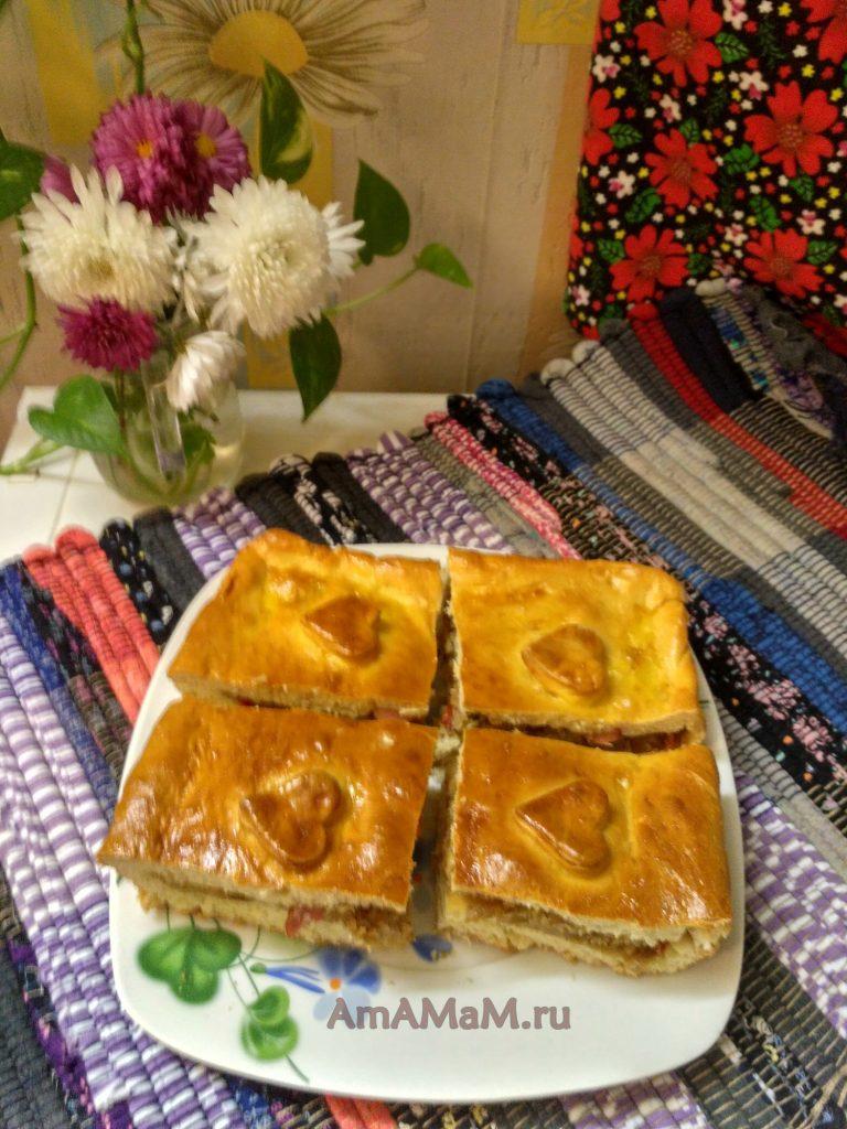 Пирог из капусты - рецепт