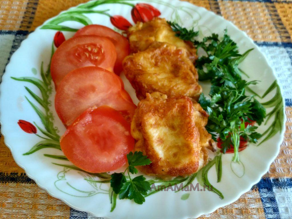 Сырная закуска с помидорами и зеленью
