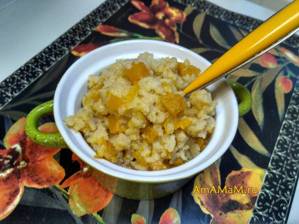 Каша с рисом и тыквой
