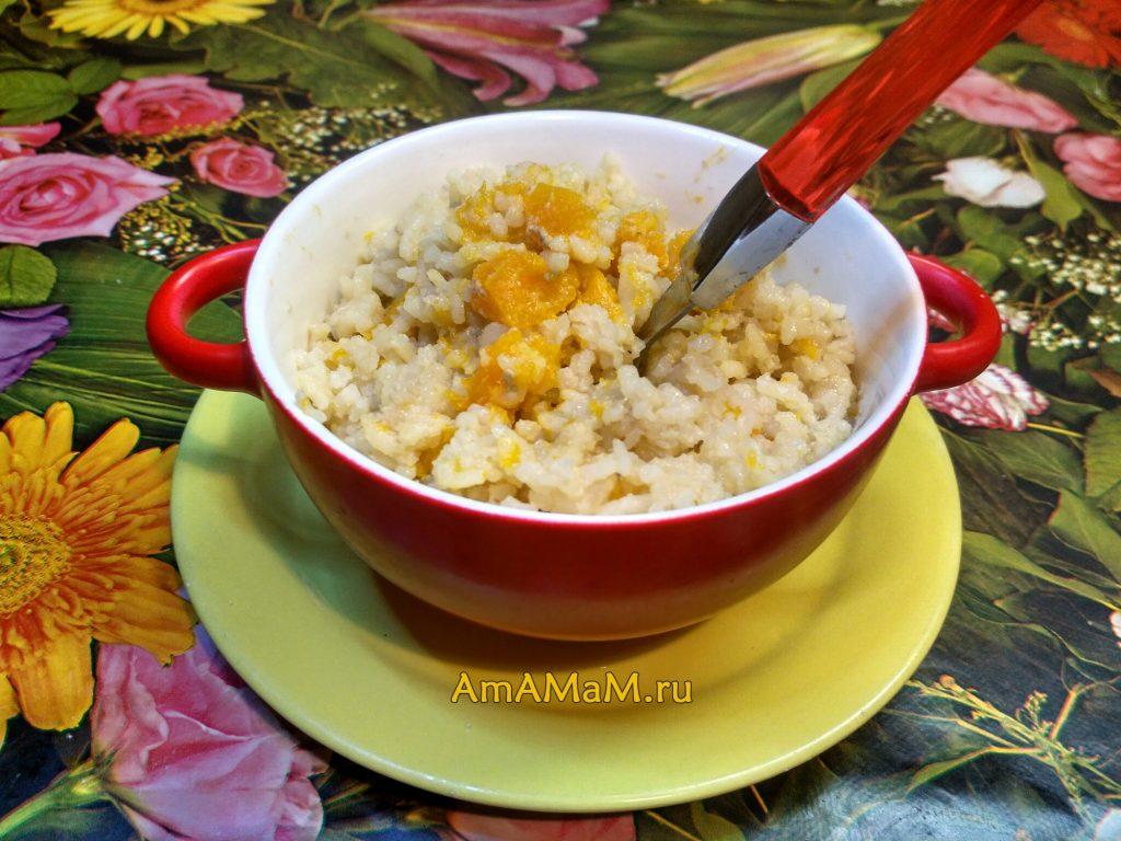 Рецепт каши из тыквы с рисом