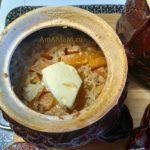 Приготовление рисовой каши с тыквой в духовке
