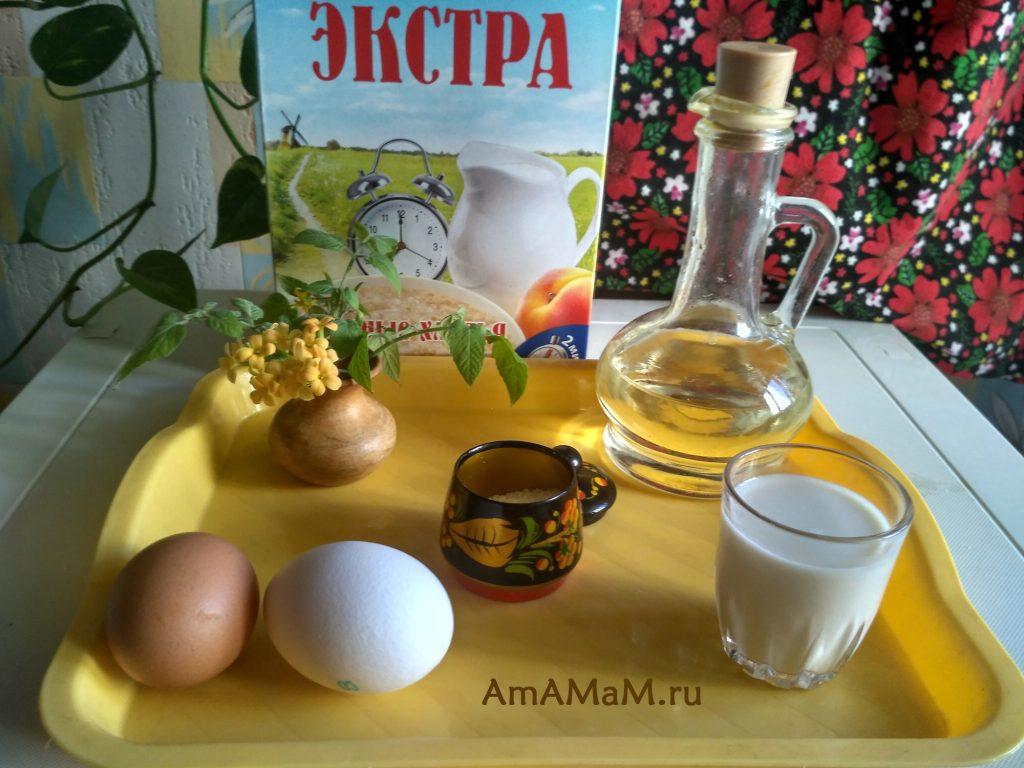 Ингредиенты овсяных оладий