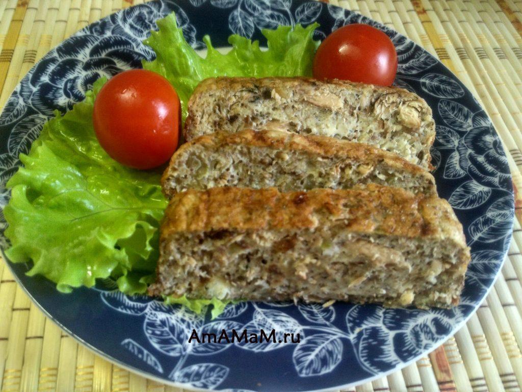 Суфле из рыбы (консервированной сайры)