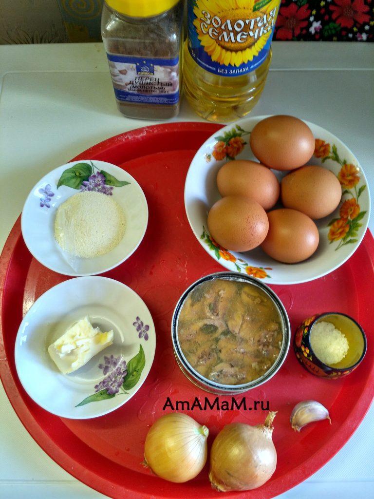 Ингредиенты рыбного суфле