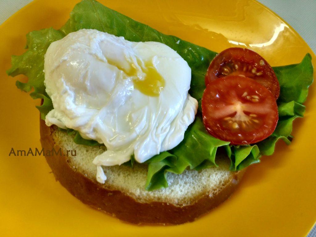 Рецепт бутерброда с яйцом (пашот)