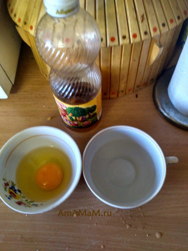 Ингредиенты для варки яйца пашот в микроволновке