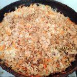 Вкусная начинка для пирожков блинов из фарша и риса