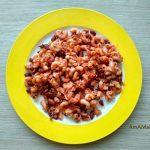 Фасоль с макаронами в томате