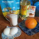 Продукты для пирога с апельсином