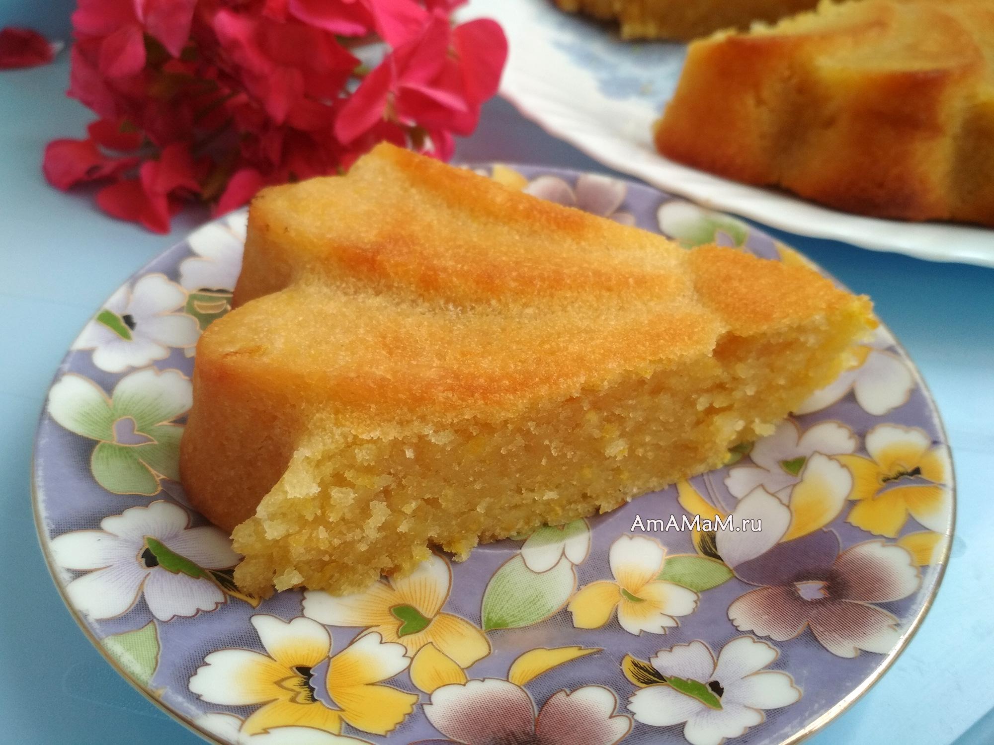 Пирог с апельсином на растительном масле