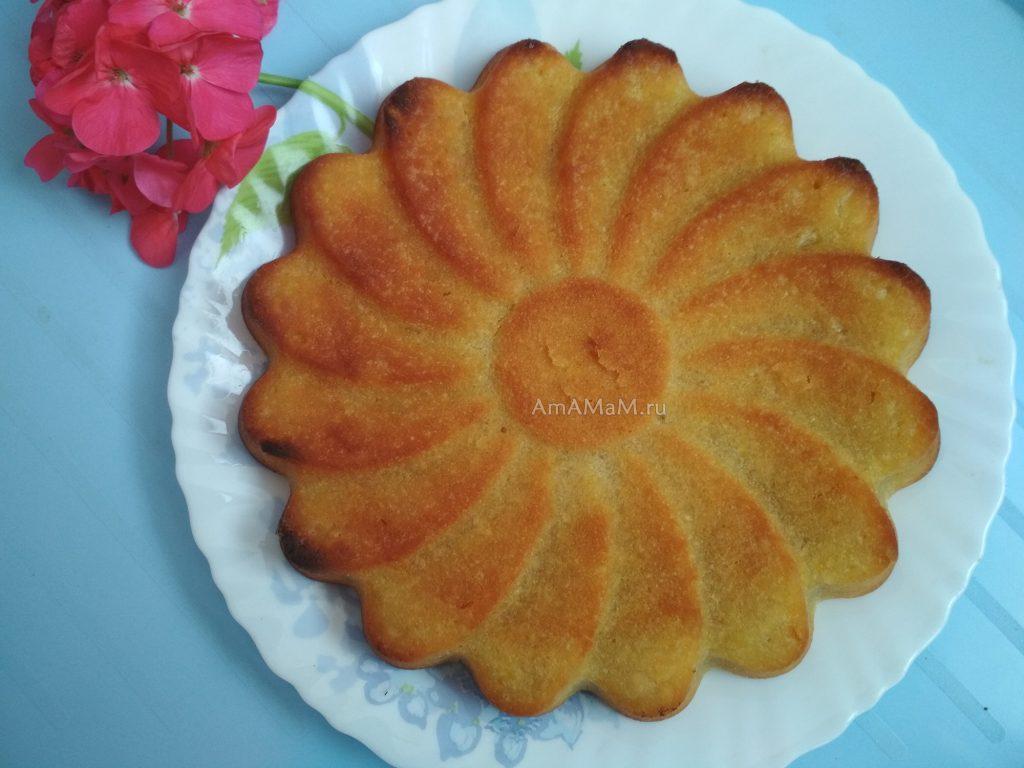 Апельсиновый пирог на растительном масле