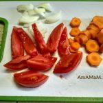 Овощи в нарезке для приготовления джаркого из ребрышек с картошкой