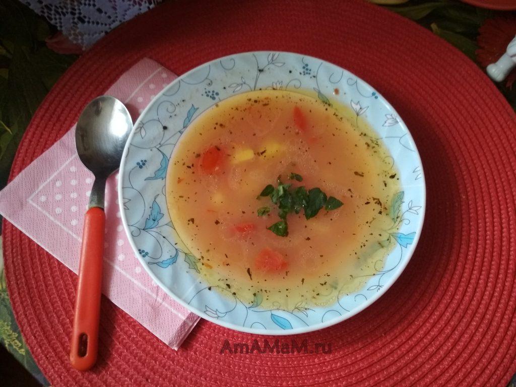 Суп из фасоли на обед