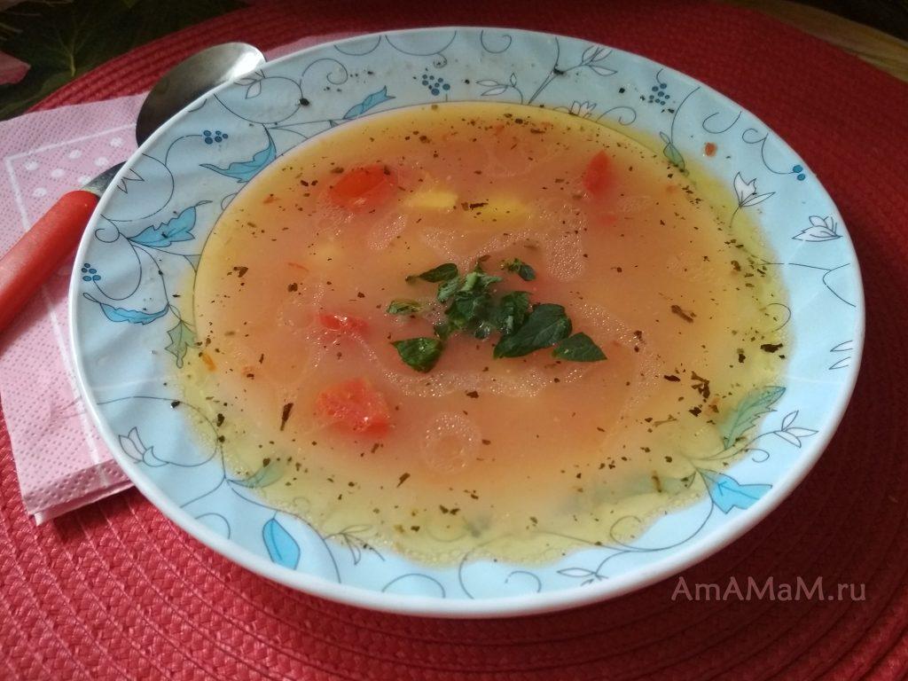 Суп из фасоли с картофелем и морковью