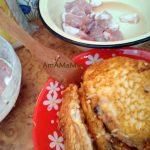 Приготовление жареной свинины в яйце