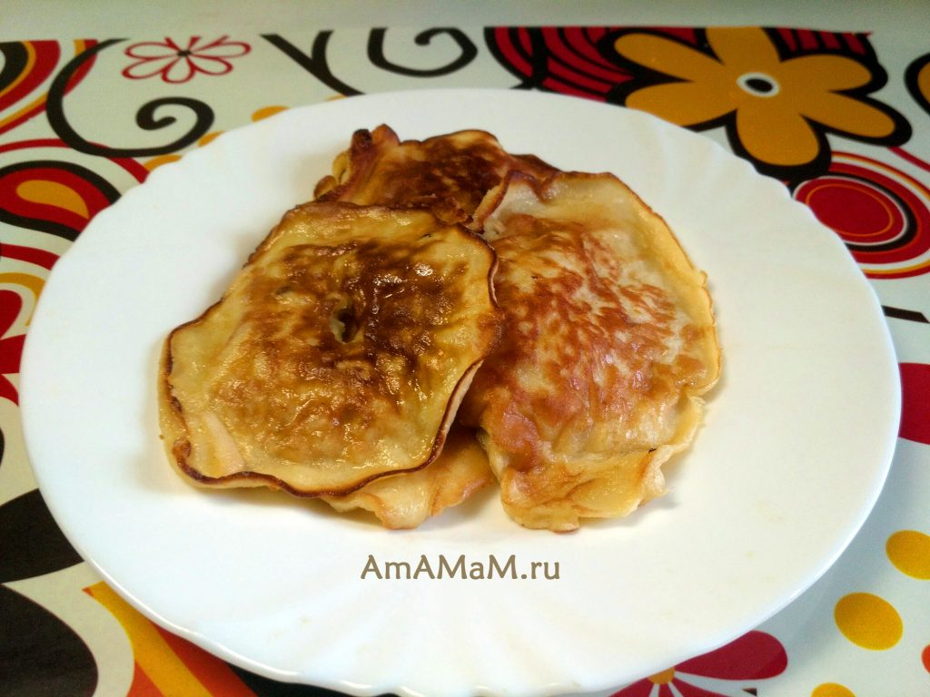 Яблочные оладьи - простые и вкусные