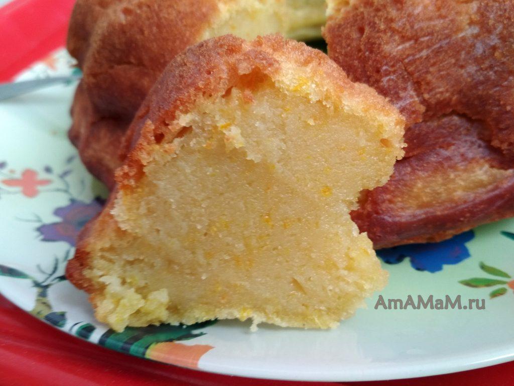 Кекс с апельсинами - рецепт и фото