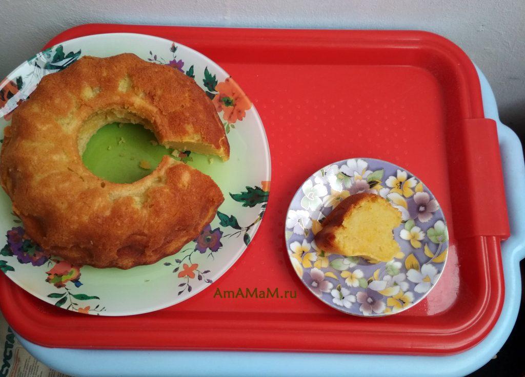 Разрезаем апельсиновый кекс