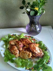 Блюдо из медальонов индейки - филе к тесте
