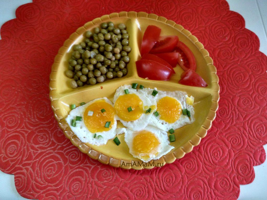 Рецепт глазуньи с большим количеством глазков из замороженных нарезанных яиц