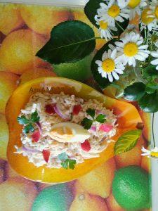 Тройка плюс - салат еврейский с добавление яблока