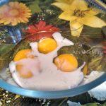Яйца и молоко для омлета