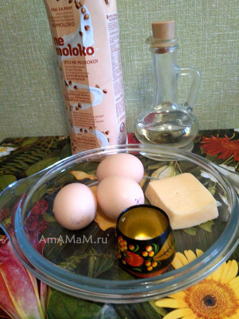 Ингредиенты рецепта омлета-рулета