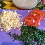 Сырно-помидорная начинка для овсяноблина