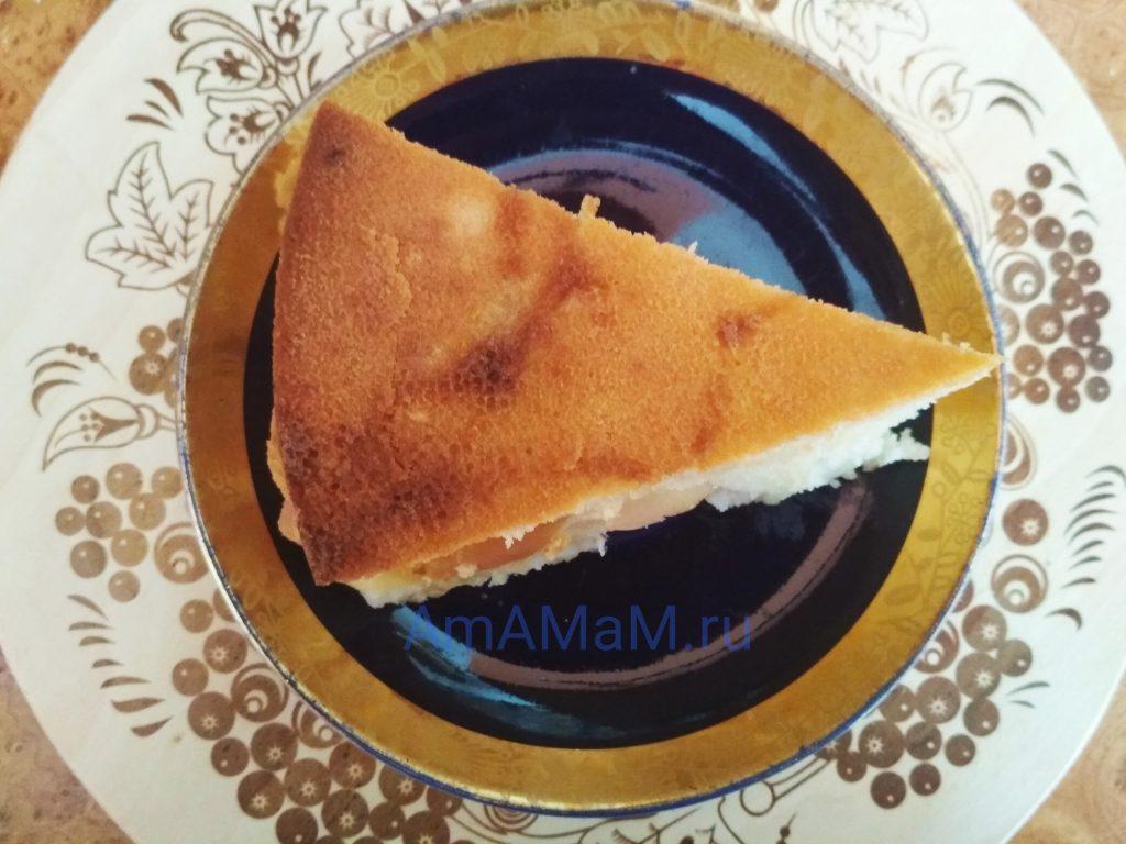 Яблочный пирог на сметане