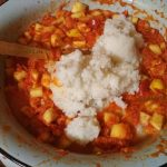 Закуска с рисом и овощами