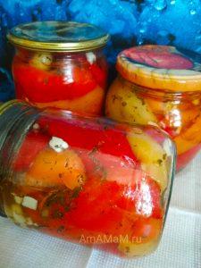 Перец сладкий с чесноком и мятой