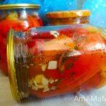 Перцы маринованные с мятой и чесноком