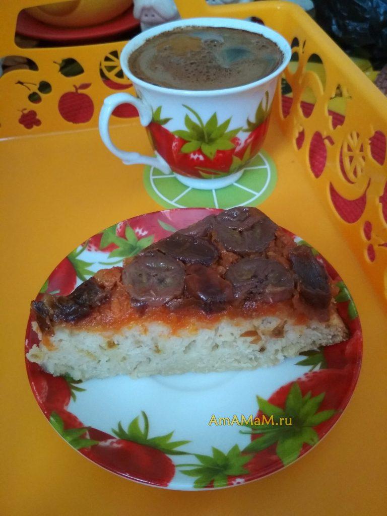 Пирог финиково-банановый с морковью
