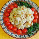 Плов из цветной капусты с мясом