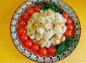 Куриный плов без риса с цветной капустой