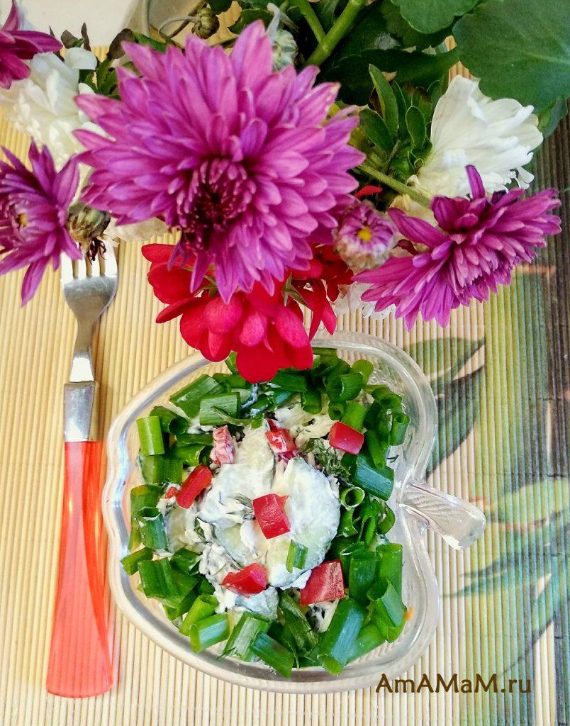 Рецепт огуречного салата с плавленым сырком