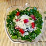 Салат из огурцов с плавленым сырком