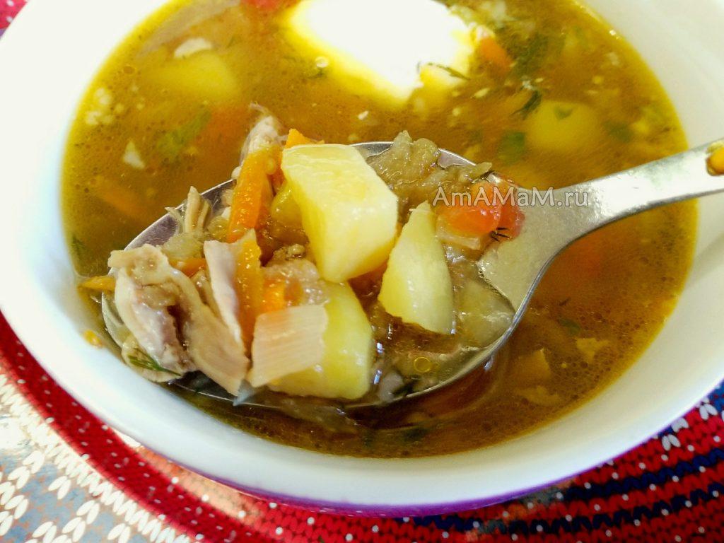 Вкусный суп с баклажанами - способ приготовления и фото