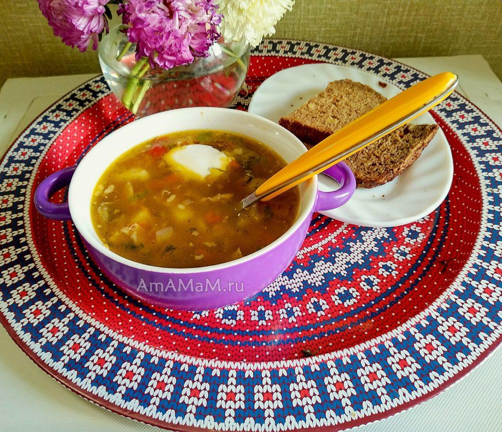 Суп с баклажанами и картошкой