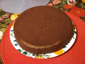Шоколадный пирог с лимоном или апельсином на воде
