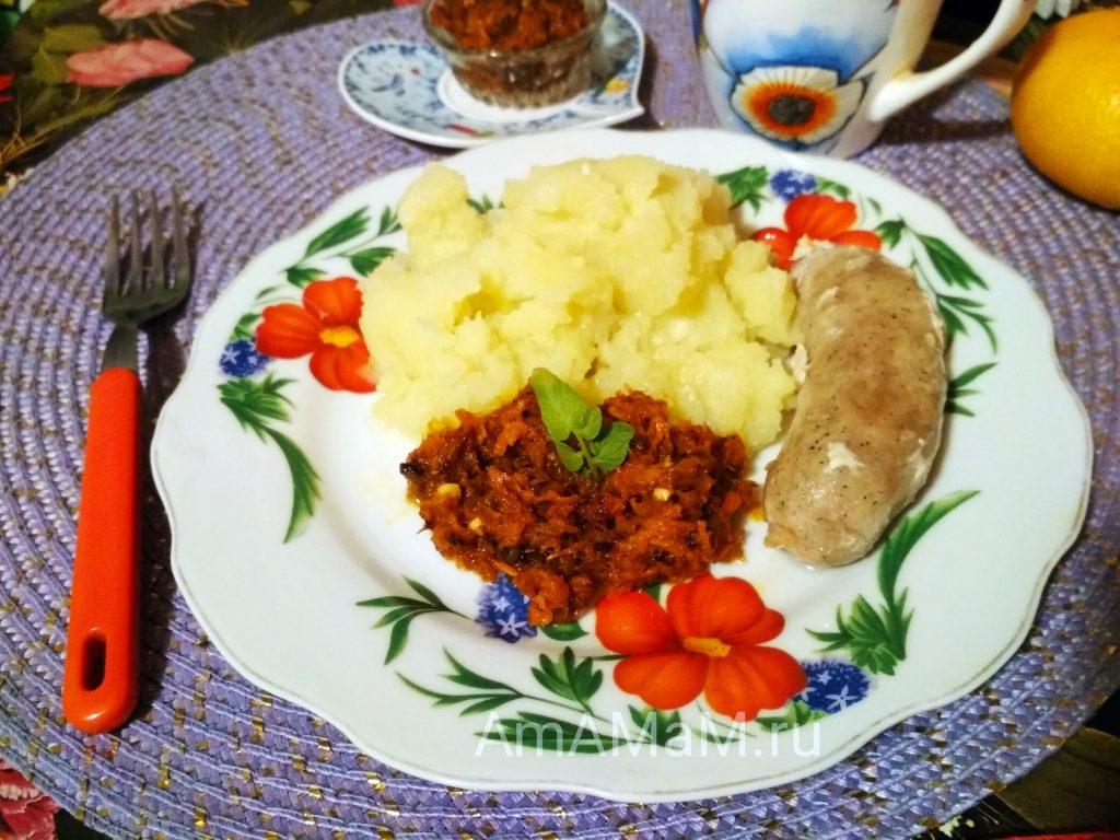 Рецепт икры из моркови (острая)