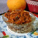 Закуска из тушеной моркови с маринованным сладким перцем