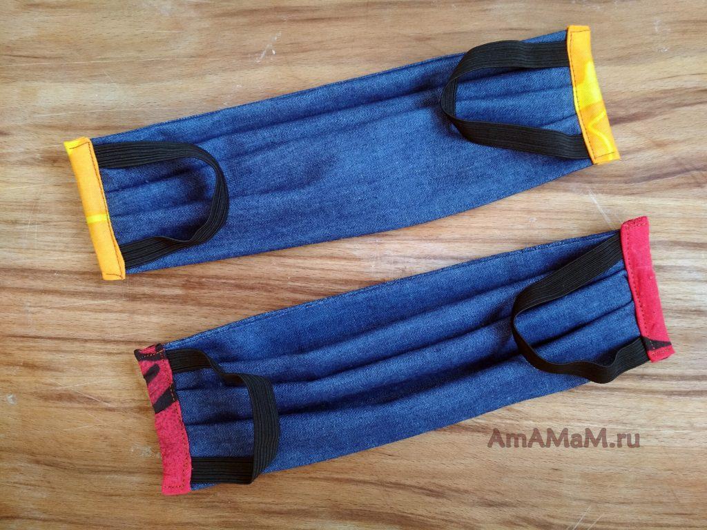 Маски джинсовые медицинские двухслойные - как делать совими руками в домашних условиях
