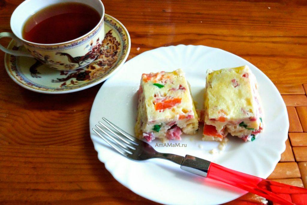 Вкусная и простая запеканка из колбасы и хлеба