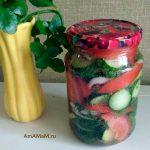 Как делаютт салат из овощей в минералке - простой рецепт