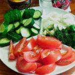 Как нарезать овощи для посола в минералке - фото и рецепт