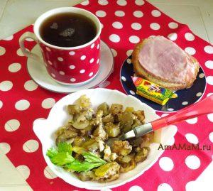 Баклажаны в омлете - вкусное и простое блюдо