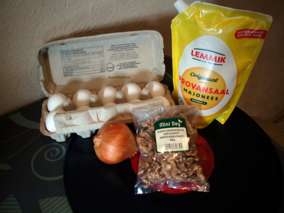 Состав яично-орехового паштета по-венгерски